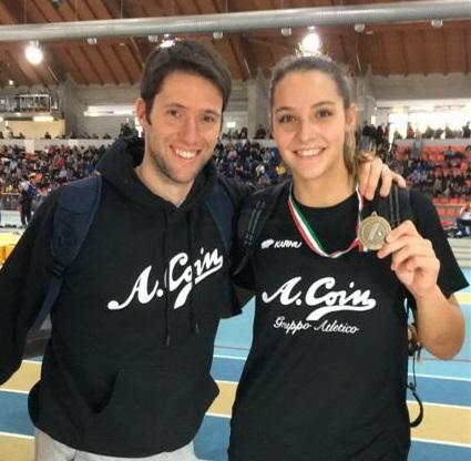 Molinarolo Elisa con il tecnico Chiarello_b1